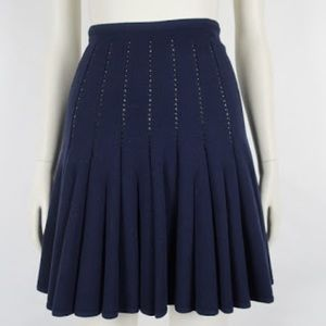 auth ALAÏA navy wool blend SKIRT size 38 $2999
